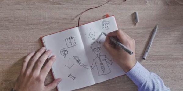 """Virale Idee """"Cleveres Notizbuch für Kreative"""""""