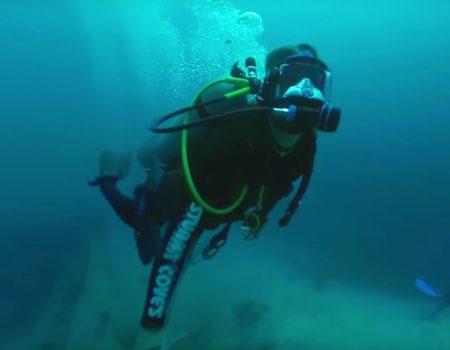 """360° Video """"Tauchen zu einem alten Schiffswrack umzingelt von gefährlichen Haien"""""""