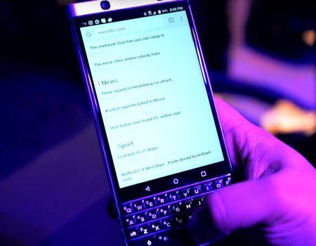 """Blackberry Keyone """"TechStage mit einem Hands-On und ein paar Eckdaten zum neuen Blackberry-Smartphone"""""""